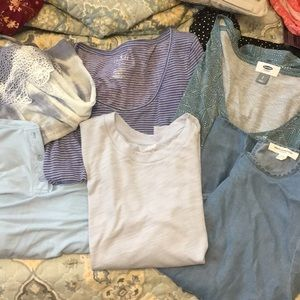 Mystery blue shirt bundle ! American eagle, Aerie,
